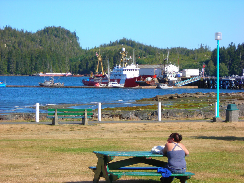 Coast Guard alongside the pier in Port Hardy