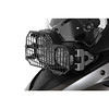 """Touratech Steel Headlight Protector, with quick release fastener.<br /> Bestelnummer: 048-5095<br /> Kleur: zwart<br /> Prijs: € 74,89<br /> Aangekocht bij: <a href=""""http://www.kohl.de/motorrad/"""">http://www.kohl.de/motorrad/</a>"""