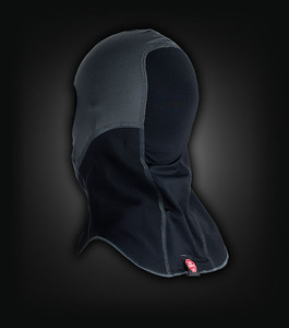 Klim Balaclava. Maat: Unisex Kleur: zwart/grijs Prijs: € 28,95 Aangekocht bij: www.motoadventurestore.be