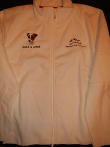 BMW Motor Club Vlaanderen Fleece vest. Lady Sarasota - Wit - 2XL - Geborduurd: Jack Russel - ROSA + JEFKE - € 70,00.