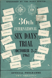 Official Programme 36th ISDT 2-7 October 1961