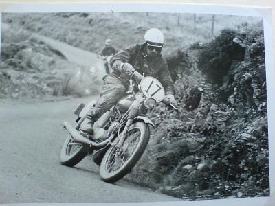 ISDT 1961, Wales -  W  Gehring pinning his little Zundapp on the Main road towards Ystradfellte in ISDT 1961