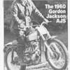 Gordon Jackson 350cc AJS a