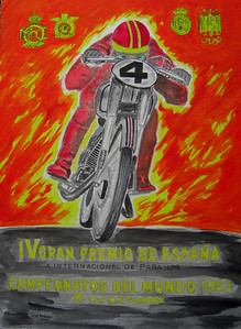 1953 Espana GP Poster, watercolor, 10x14, completed apr 4, 2014CIMG9554