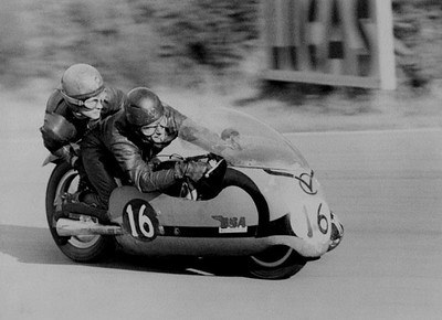 Chris Smith & John Robinson, BSA 650 at Brands Hatch, circa 1964 , 14x17, pencil, completed nov 13, 2014