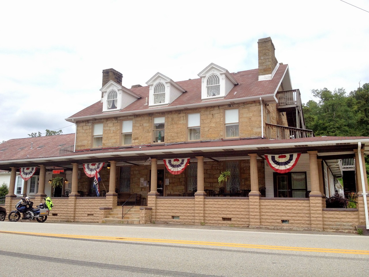 The Stone House Inn & Tavern. Farmington, PA right along US40. <br /> Originally opened in 1822!<br /> Stopped here on the way home to warm up and get coffee.