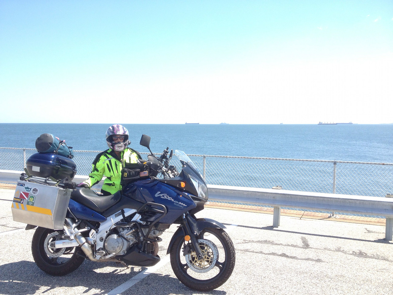 Autumn and the 'Strom on the Chesapeake Bay bridge & tunnel system