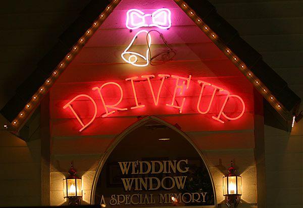 Drive-thru weddings!