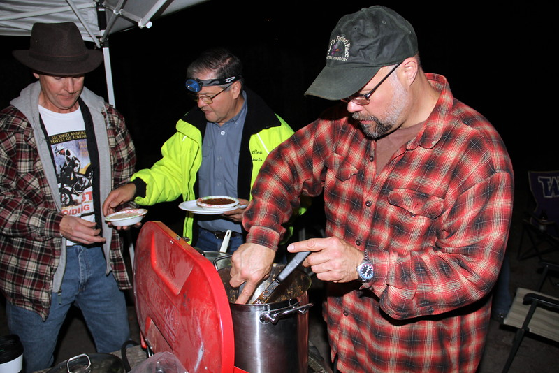 Wayne Elston stirs the pot for supper
