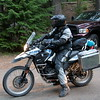 Adam arrives on a new BMW Sertao G650GS