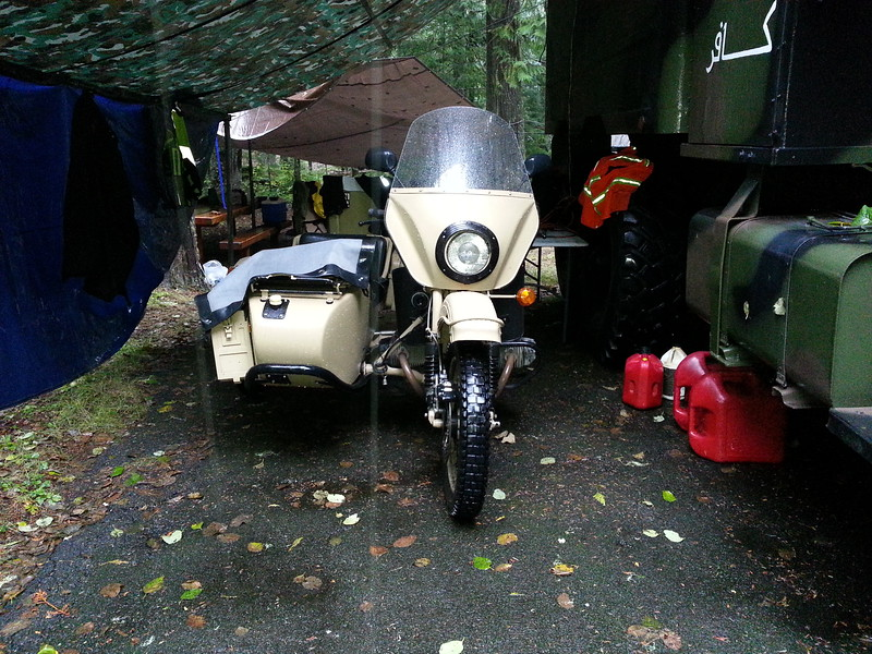 A guest, Tracy rolled in on this Ural