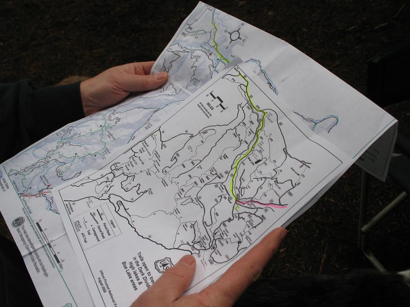 maps are studied for the day's ride