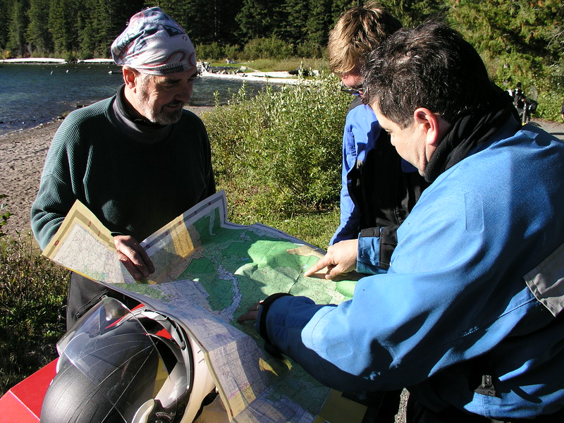 """A close look at the map of the Gifford Pinchot ( say """"Pin- Cho"""" )National Forest map, reveals many different routes to choose from.  We decide to go to the burg of Trout Lake for lunch and fuel."""