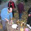 Our host Wayne Elston and crew harvested a whole pile of Boletus mushrooms.  Wayne is wise to the study of these fungi, and selected the best ones for our supper. See the big ones on the table there?
