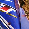 Mi sangre en la moto después del accidente cerca de Alamikamba, RAAS