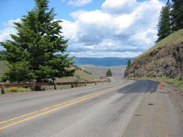 Enterprise, OR to Asotin, WA on routes 3 and 129. Rattlesnake Grade.