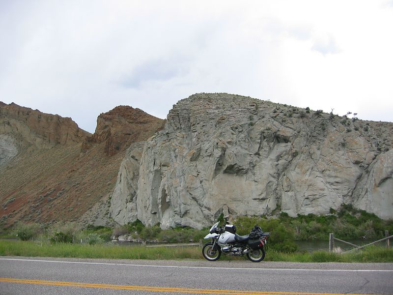 Following the Salmon River valley in ID.