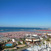 The beach at Cattolica - view from the Splendid Hotel