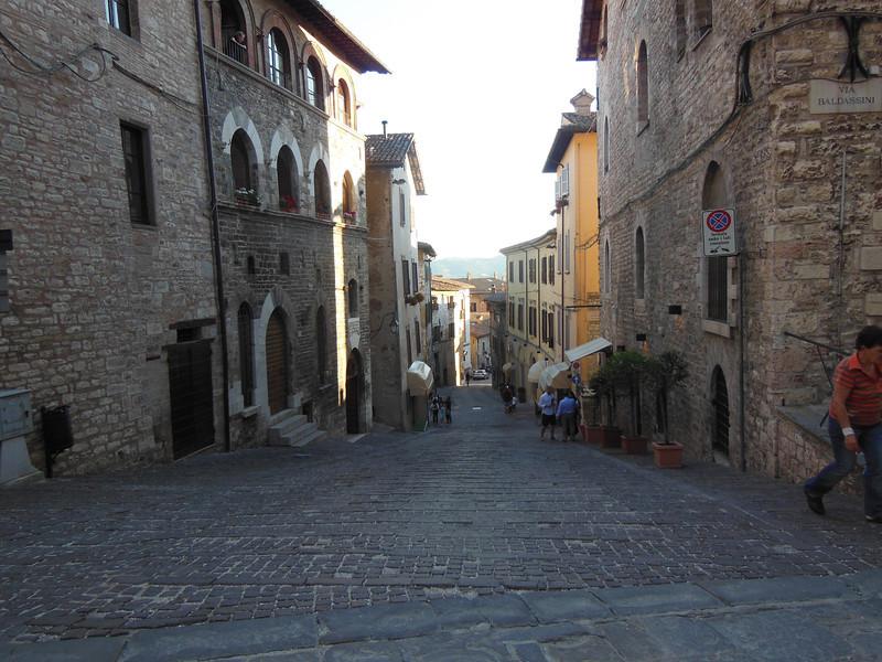 Gubbio street scene