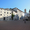 The plaza at Spoleto