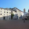 The plaza at Spoleto