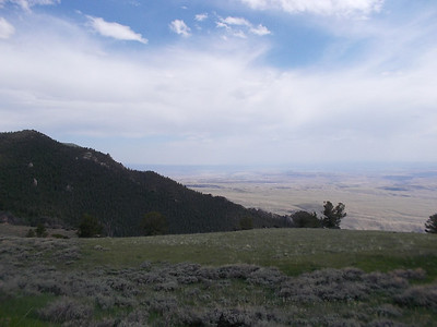 view from 14a east west of Lovell, WY