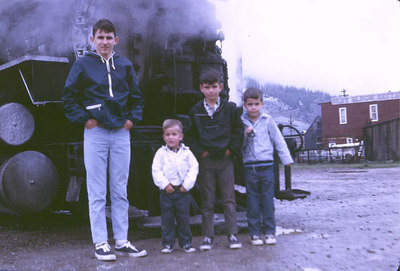A parting shot - Michael, Tyler, Tim and Kevin... years ago at Silverton, Colorado Unlike a lot of Engineers.. I had no idea
