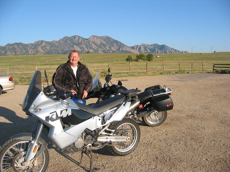 0730am, aug 14, 2004.  Steve Johnson, co-worker and experienced dirt rider