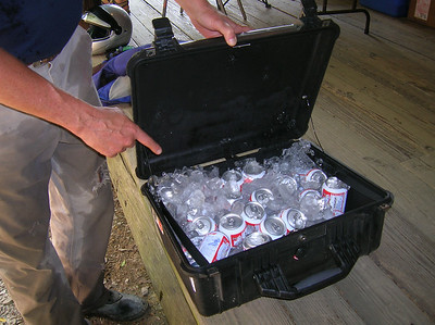Caribou Cases - when you need to get 24 cans of Bud and 14 pounds of ice there TODAY!