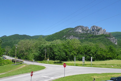 Seneca Rocks from the Front Porch Restaurant.