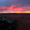 Stanton Creek Campground on Lake Powel, sunset.
