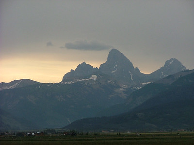 west faces of the Tetons; July 5, 2006