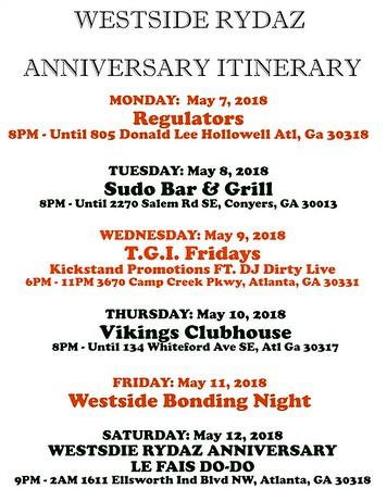 Westside Rydaz Anniversary Week 2018-2