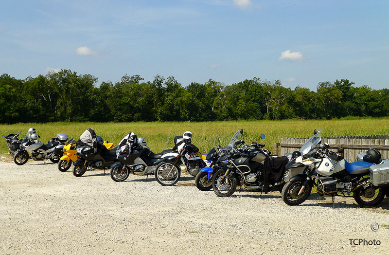 The trusted steeds parked at the lunch site.