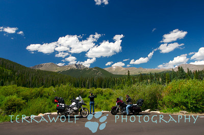 BMW and Harley Jousting in the rockies!