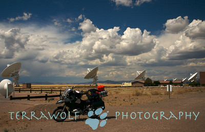 R1200GS at VLA in New Mexico