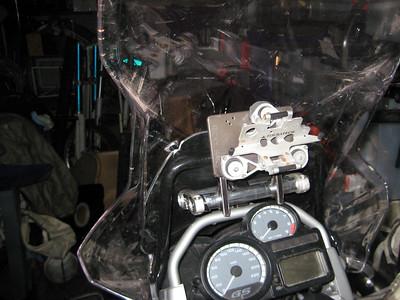 GPS Mounts on Ricky's 1200GS