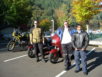 Jeff, Christian and Anand at Promentory Point on the Clackamas River