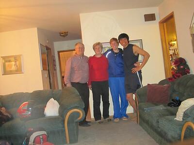 Tim, Angela, Amanda, Will the night before their departure