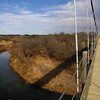 Lower Colorado River viewed from the historic Regency wooden decked suspension bridge