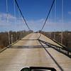 Regency wooden decked suspension bridge