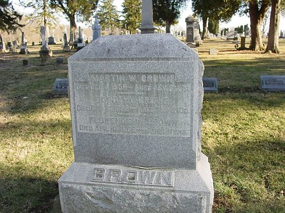 Martin Brown Headstone