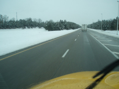January 30, 2010: North on I-81 in the snow.