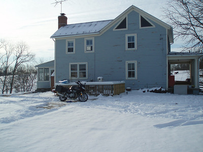 February 1, 2010: Snow around the house