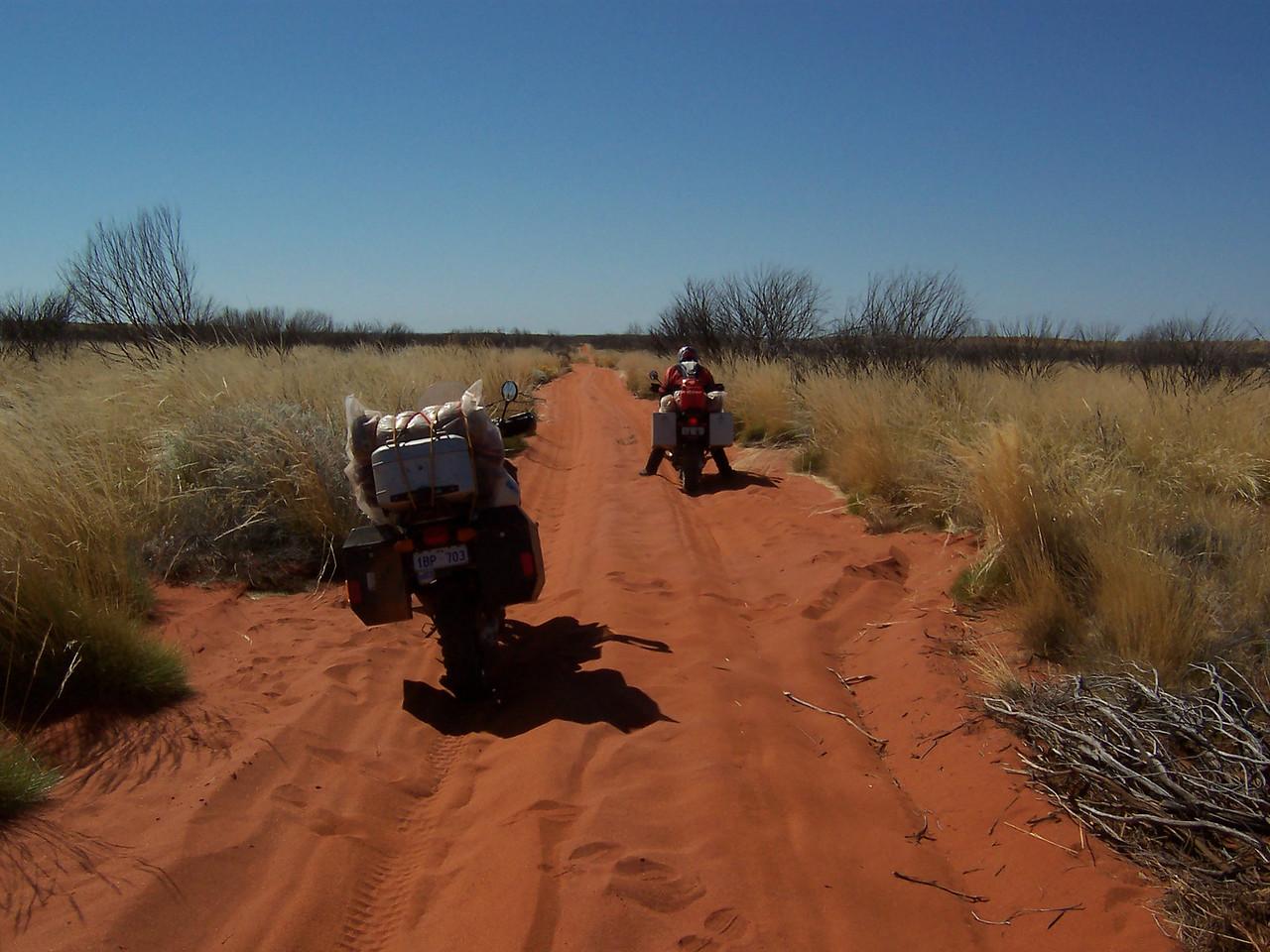 More sand - Gunbarrel Highway