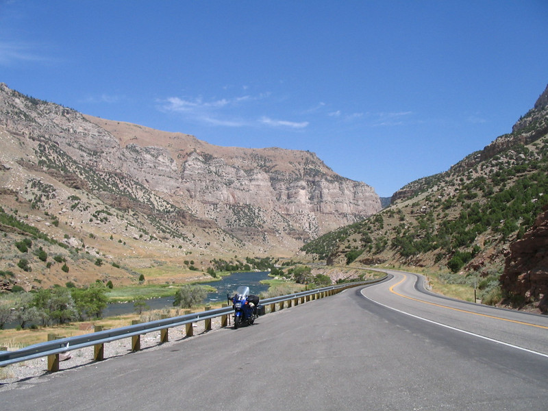 South of Thermopolis : Wind River Canyon and US 20 hwy.