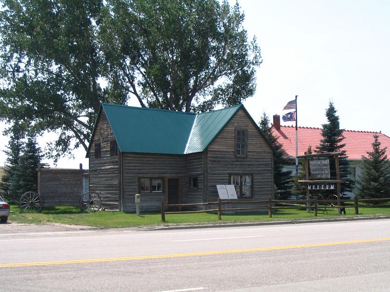 Owen Wister's cabin in Medicine Bow WY, original location of cabin was Jackson Hole.