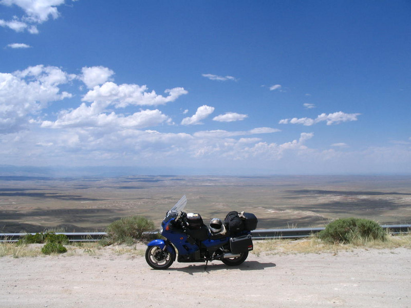 Believe this overlook in on hwy 135 south of Riverton WY. Fantastic view. Very little traffic.