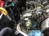 shows proper alignment of timing chain when installing exhaust cam gears