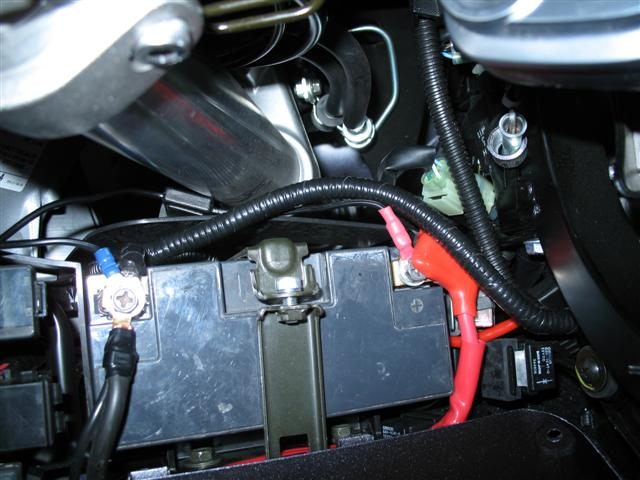 This is the horn harness installation.  I'll give you more details on this project later.  Check back.